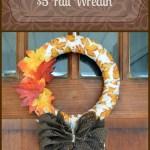 $5 Fall Wreath – Dollar Store DIY