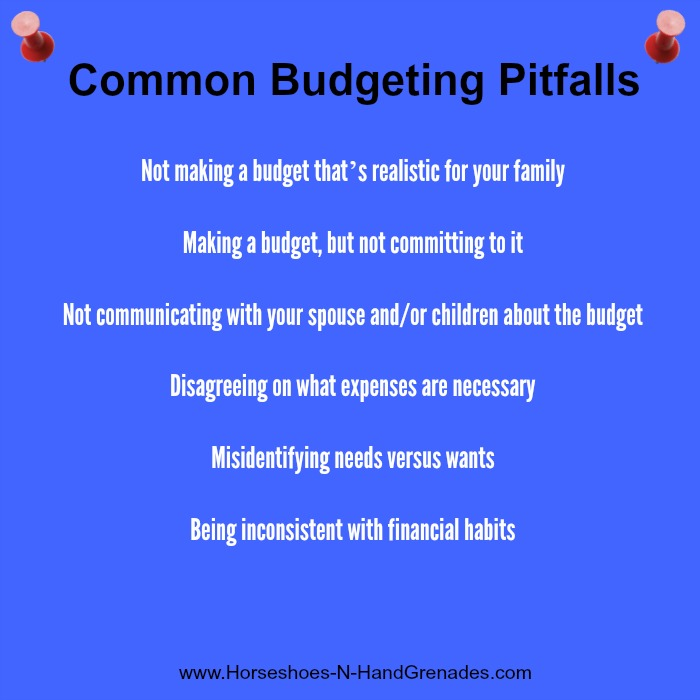 Budgeting Pitfalls