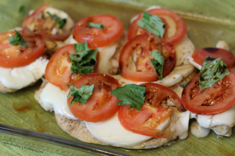 Layer Mozzarealla & Tomato Caprese Chicken