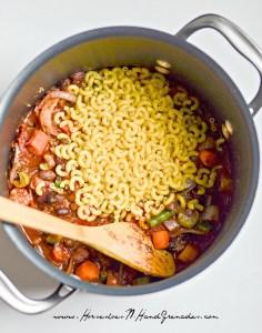 Minestrone Soup pasta pot