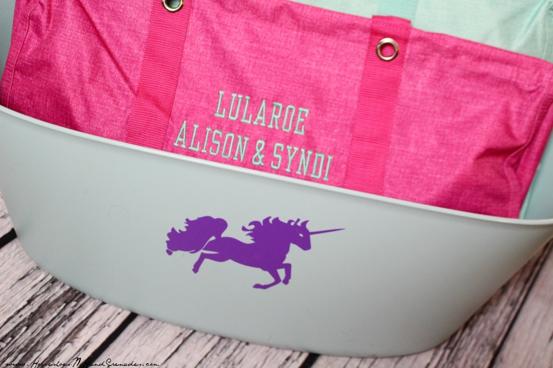 Vinyl Decal on Tote