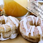 Cinnamon Sugar Doughnuts with Bourbon Vanilla Glaze