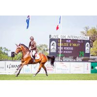 Todd Minikus guided Edulcee d'Hulst to victory in the $5,000 1.30m Waldron Wealth Management Power & Speed competition