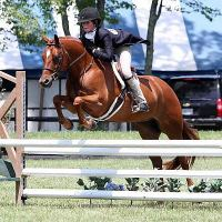 Ava Stearns and Dreamland win the $2,500 Pony Hunter Classic