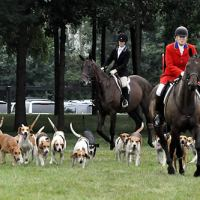 The Mill Creek Hunt Club was part of the opening ceremonies