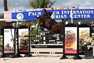 Laura Kraut and Wish Triumph in $6,000 Spy Coast Farm 1.40m Jump-Off
