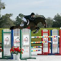 ©ESI Photography. Laura Linback and Whittaker MVNZ jump to a win in the $5,000 U-Dump Junior/Amateur-Owner High Jumper Classic