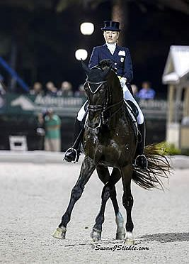 Tina Konyot and Calecto V Clinch American Victory in FEI Grand Prix Freestyle CDI 5* during AGDF 12