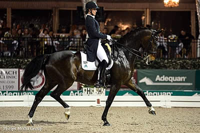 Adrienne Lyle and Wizard Earn First World Cup Qualifying Score with Freestyle Win