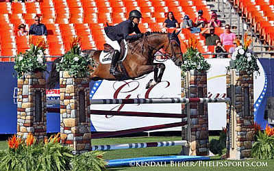 Victoria Colvin Strikes Gold in $25k Hollow Creek Farm Junior/A-O Jumper Classic at American Invitational