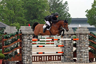 Mark Bluman and LaGran Dash for the Cash in the $20,000 Bluegrass Classic at Kentucky Spring Horse Show