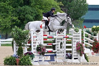 Margie Engle and Indigo Triumph in $75,000 Commonwealth Grand Prix at Kentucky Spring Horse Show