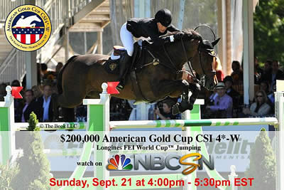 American Gold Cup CSI4*-W Airs Today at 4 p.m. EST on NBC Sports Network