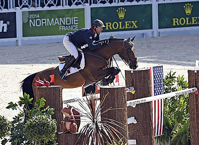 Patrice Delaveau Takes Individual Lead in Show Jumping at WEG