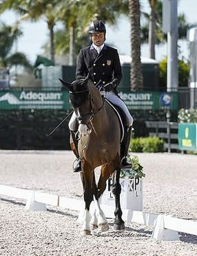 Boyd Martin & Trading Aces Rise to the Occasion after Dressage in Wellington Eventing Showcase