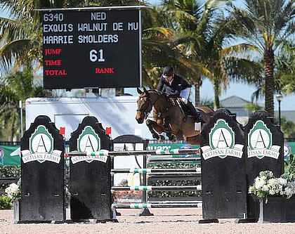 Harrie Smolders and Exquis Walnut de Muze Win $34,000 1.45m Speed at the 2015 WEF