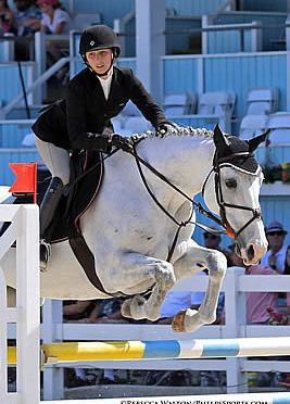 Sydney Crenshaw and Camera Ready Score Adult Amateur Jumper Championship
