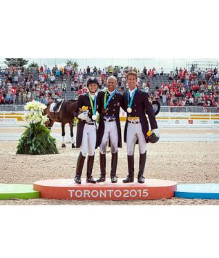 Double-Gold and Individual Silver for USA in Pan-American Games Dressage