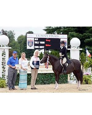 Kingston and Truly Yours Awarded Overall Grand and Reserve Green Hunter Pony Titles