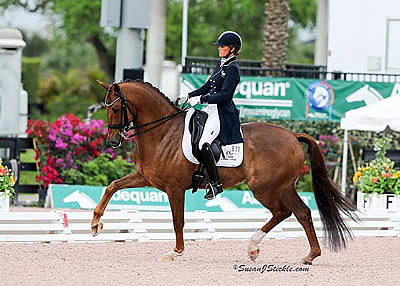 Leida Collins-Strijk and Zantros Conclude AGDF 10 with Victory in the FEI Intermediaire I Freestyle