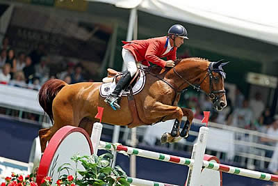 Richard Spooner and Big Red Bring Home Clears for U.S. Show Jumping Team