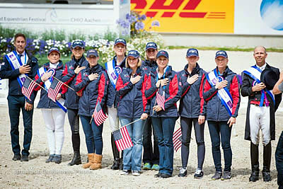 US Dressage Team Earns Silver Medal in CDIO5* Aachen