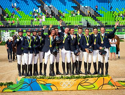 French Win Eventing Team Gold; Germany's Jung Takes Second Successive Individual Title