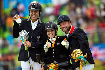 Dancing Horses Lead Their Riders to Gold