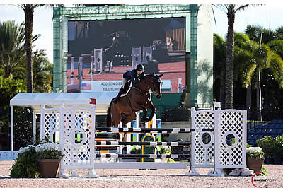 Addison Gierkink and S&L Slingback Top Engel & Völkers High A-O Jumpers at WEF