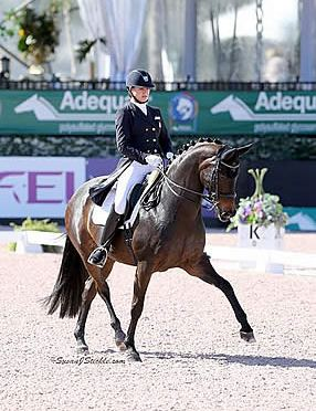 Adrienne Lyle and Horizon Top FEI Intermediaire 1 Freestyle CDI 3* at AGDF 5