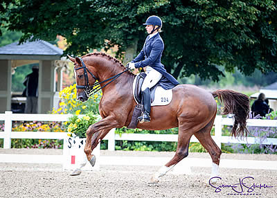 Woodard, Parra Named Champions at USEF Young & Developing Horse Dressage Nat'l Championships
