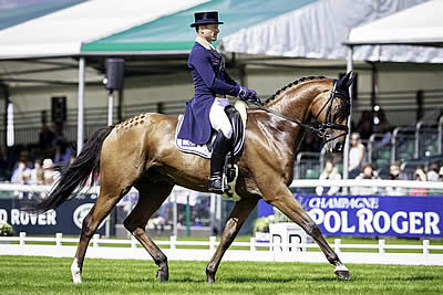 Michael Jung Tops Dressage after Day One at Burghley