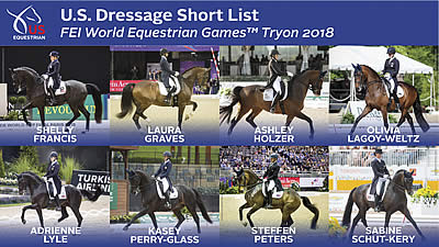 US Equestrian Names Short List for FEI World Equestrian Games U.S. Dressage Team
