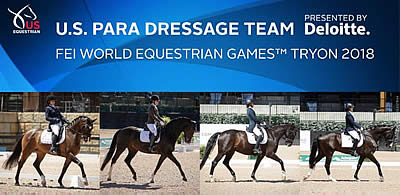 US Equestrian Announces Para-Dressage Team for World Equestrian Games 2018
