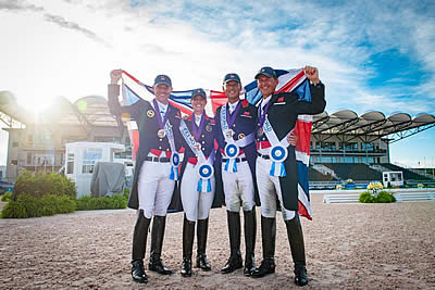 FEI World Equestrian Games Medallists Celebrate Achievements in Olympia Parade