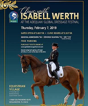Isabell Werth Master Class & Clinic to Take Place at AGDF on Thursday, February 7