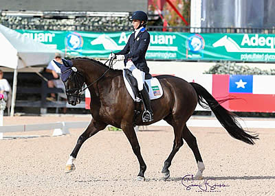 Kate Shoemaker and Solitaer 40 Conclude AGDF Week 9 with Win in FEI Para Freestyle Grade IV
