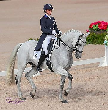 Adrienne Lyle and Harmony's Duval Make a Big Splash at Tryon Spring Dressage 1 CDI 3*