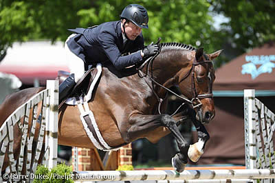 Andrew Ramsay and California 62 Win Welcome Speed 1.45m CSI3* at Kentucky Spring Horse Show