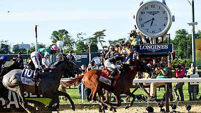 Longines Times Sir Winston's Victory at 2019 Belmont Stakes