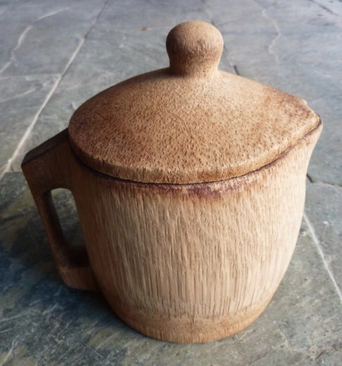 jug made from base of dragon bamboo