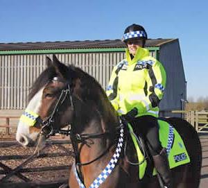 Bert and Special Constable Nicola Rix