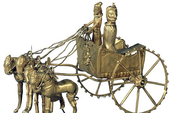 Gold model chariot from the Oxus Treasure