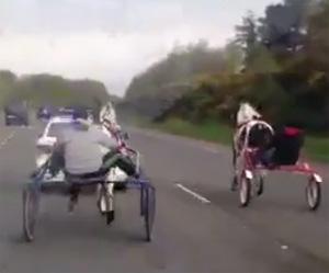 A still from the race video, below.