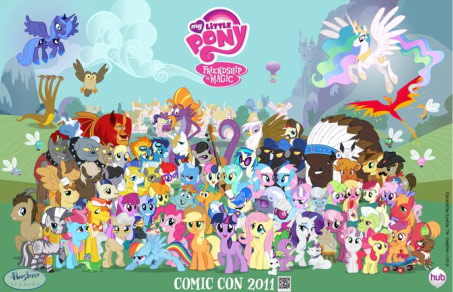 "The cast of ""My Little Pony: Friendship Is Magic""."