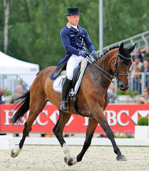 Second placed Michael Jung and Leopin.