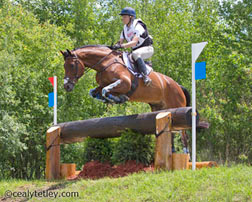 Rebecca Howard of Salmon Arm, BC, and Riddle Master, Blithe Hill Farm's 11-year-old Canadian Sport Horse gelding, placed fifth in the new CIC 3* division at the Volvo CCI3* Bromont Three Day Event, The Todd Sandler Challenge. Photo credit-Cealy Tetley, www.tetleyphoto.com