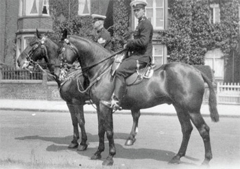 Sgt Hodkinson and Bert Noy taken on Broadgate 1921-1923.