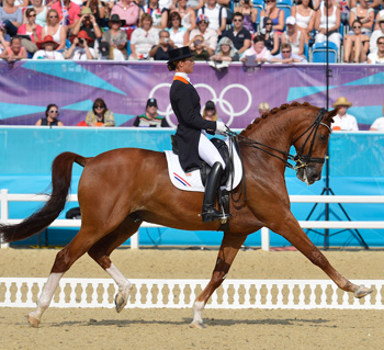The Netherlands Adelinde Cornelissen and Parzival, who won silver.