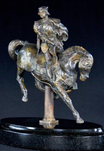 """The """"Horse and Rider"""" sculpture by Leonardo da Vinci."""